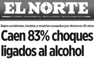 El alcoholímetro, una herramienta que ha permitido disminuir accidentes en México.